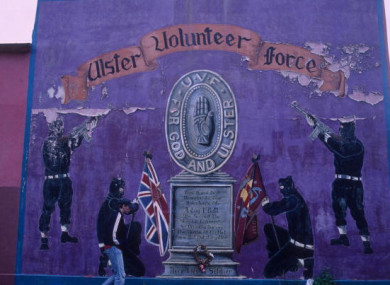 File photo of a loyalist mural.