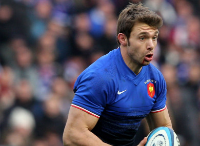 Vincent Clerc pictured playing for France in 2012.