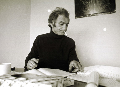 Irish playwright Tom Murphy in Dublin, 1983.