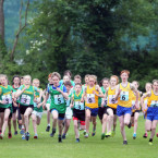 Children from around the country running in the cross county race at the Aldi Community Games Festival<span class=