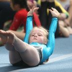 Lara Corrigan (7) from Monaghan taking part gymnastics under 9s at Aldi Community Games Festival<span class=