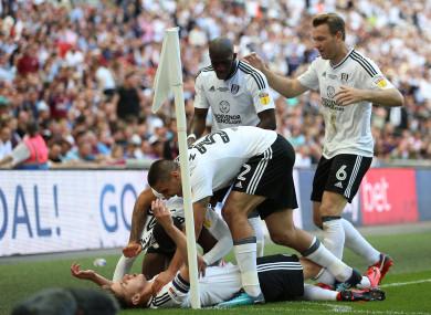 Fulham's Tom Cairney celebrates scoring.