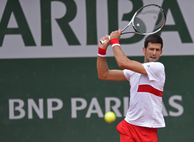 Djokovic is working his way back after an elbow injury.