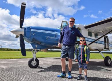 Neil Bowditch and seven-year-old Kacper Kacprzak.