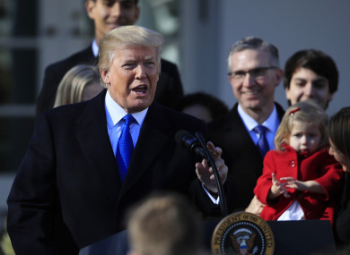 Donald Trump speaks to participants of the annual March for Life event, in the Rose Garden of the White House in January.