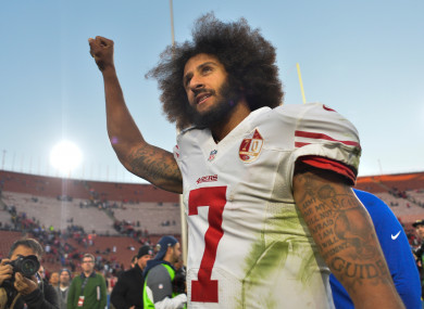 Colin Kaepernick has not played since the end of the 2016 season.