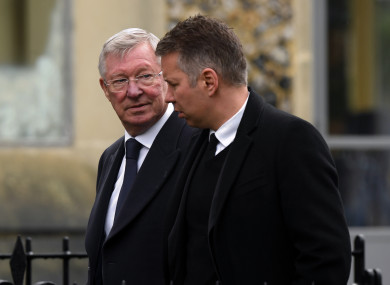 Alex and Darren Ferguson at Graham Taylor's funeral last year.