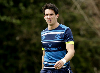 Carbery trained with the rest of the Leinster squad ahead of the Champions Cup final yesterday.