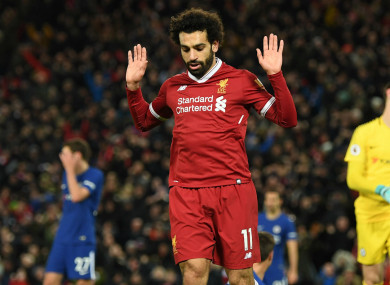 Salah after scoring against his former club.