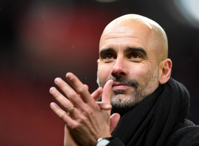 Pep Guardiola (file pic).