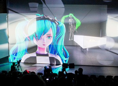 Hatsune Miku, a computer-generated 'Vocaloid' artist
