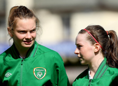 Saoirse lining out for Ireland.