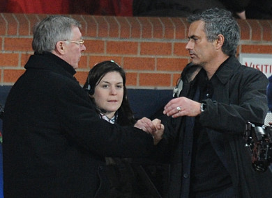 Ferguson and Mourinho back in 2009.