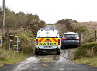 The site of the exhumation in Co Clare