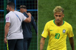 Neymar limps out of training with 'painful right ankle', setting Brazilian alarm bells ringing