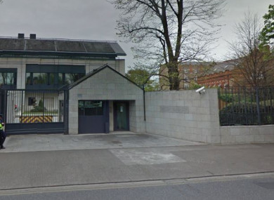 The entrance to the British embassy in Donnybrook