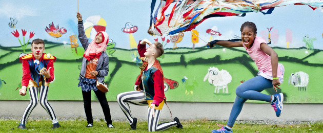 Children play at the launch of Cruinniú na nÓg  - a national day of creativity for children and young people across the country