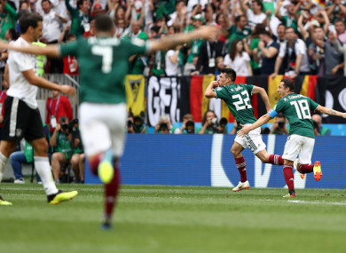 Mexico stun germany as champions begin world cup defence with shock hirving lozano reels away in celebration reheart Images