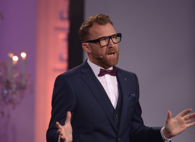 Comedian Jason Byrne hosted this year's ceremony.
