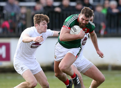 Mayo's Aidan O'Shea and Kildare's Kevin Feely will be in opposition.
