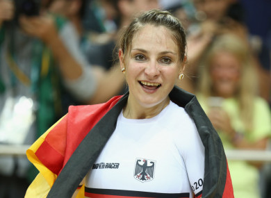 Olympic sprint champion Kristina Vogel.