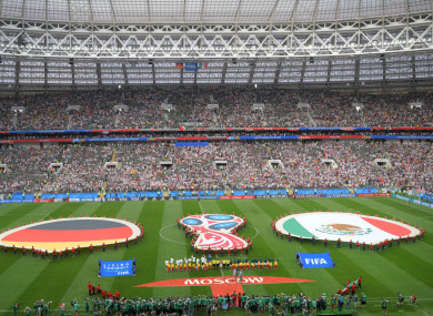 The Luzhniki Stadium before Germany v Mexico