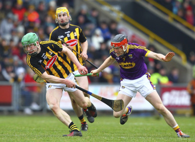Martin Keoghan and Diarmuid O'Keeffe when the sides met in April.