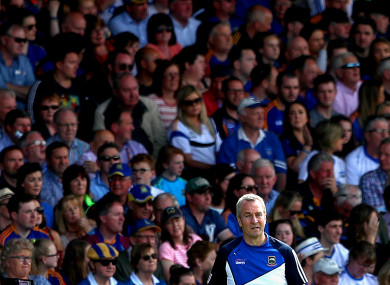 Tipperary manager Michael Ryan in the Gaelic Grounds.
