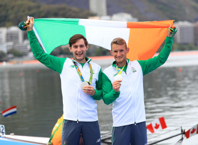 Ireland's Gary O'Donovan (right) and Paul O'Donovan (left) pictured at the Rio Olympics.