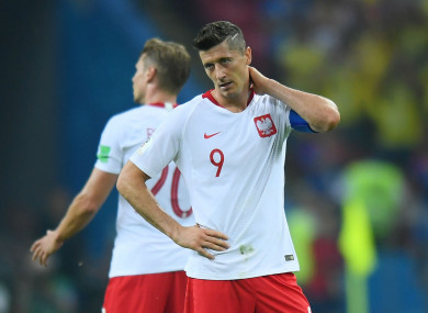Poland captain Robert Lewandowski