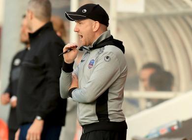 Shane Keegan took charge of Galway United last season.