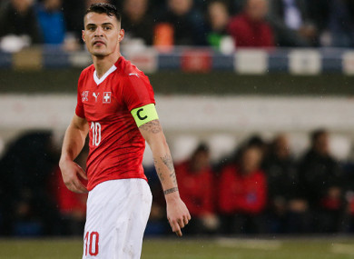 Xhaka is expected to be fit for Switzerland's World Cup opener.