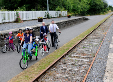 Ministers Shane Ross and Brendan Griffin at the launch of Ireland's new Greenway strategy.