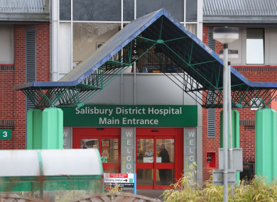 The main entrance to Salisbury District Hospital, where Sturgess and Rowley were taken to