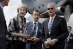 British Prime Minister Theresa May at the Farnborough Airshow.