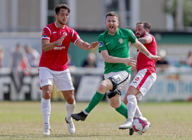Craig Walsh in action for Bray at the weekend.