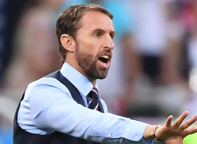Gareth Southgate: rued his side's lack of tournament experience.