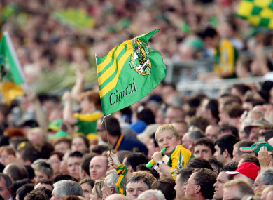 A general view of a Kerry flag.