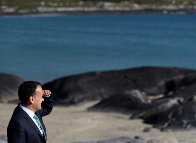 Taoiseach Leo Varadkar stares into the middle distance at Derrynane Beach in Kerry this week.
