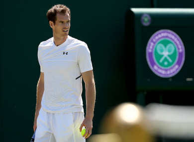 Murray was due to get his Wimbledon campaign underway on Tuesday.
