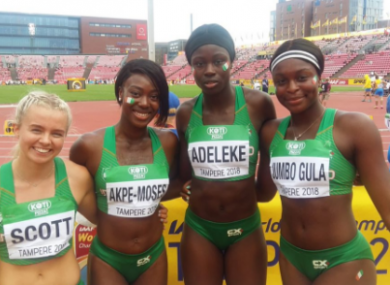 Ireland's relay team will race for a medal tomorrow.