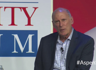 National Intelligence Director Dan Coats speaks at the Forum in Aspen, Colorado.