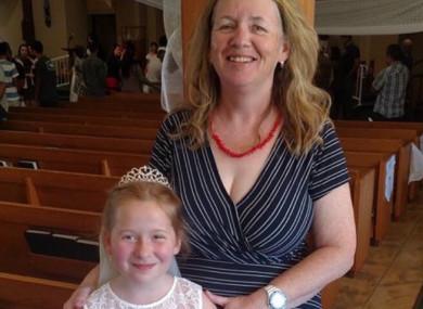 Zita Harrington Biehle with her daughter