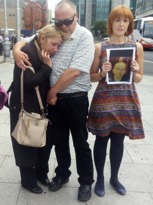 Karl Robertson's parents Cathy and Anthony Robertson and his cousin Aisling Reid.