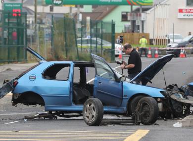 The scene of the crash in Bundoran.