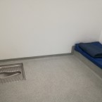 A prisoner cell in the new station.