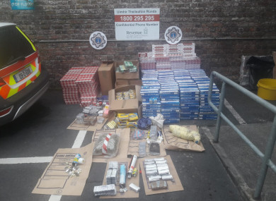 Items seized by gardaí and revenue officers in Limerick on 14 August.