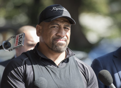 Hopoate: alleges that he was responding to racial abuse (file photo).