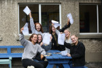 Results day in Maryfield College last year.
