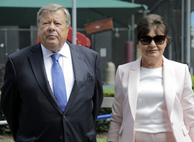 Viktor and Amalija Knavs after being sworn in as US citizens.